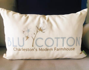BLU Cotton Pillow
