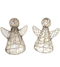 Wrapped Wire Angels (Set of 2)