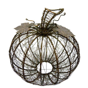 Bronze Wrapped Wire Pumpkin