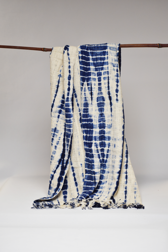 Shibori Throw/Tablecloth - Blue