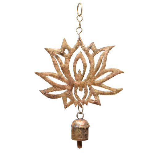 Hand-Cut Lotus Chime