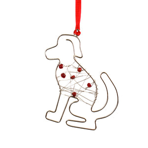 Beaded Dog Ornament