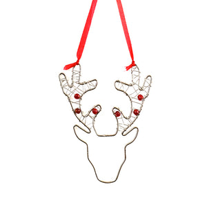 NEW! Beaded Reindeer Ornament