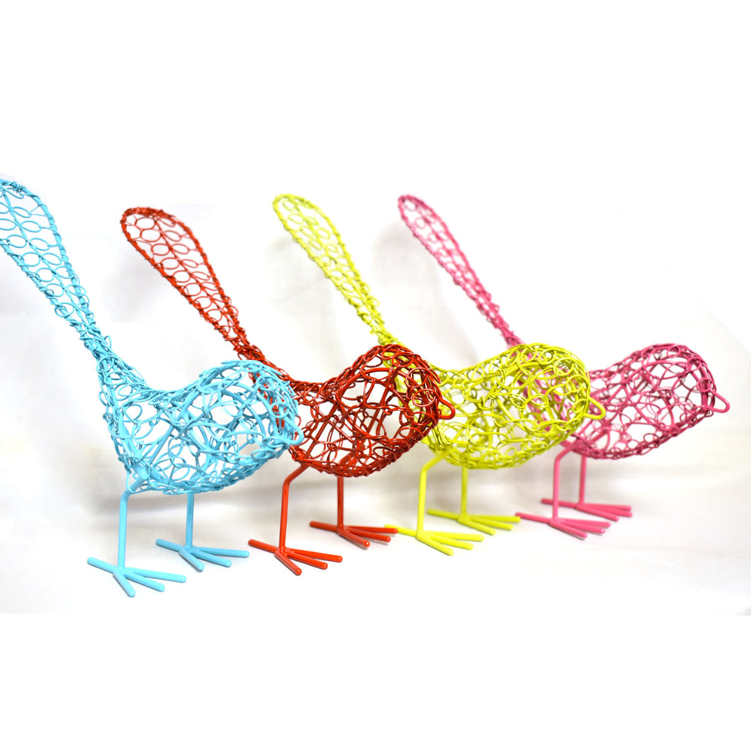 Colorful Wrapped Wire Birds