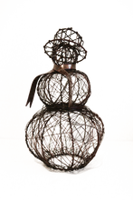 Copper Wrapped Wire Snowman - 2 Sizes