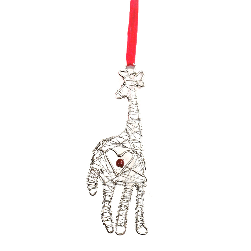 Wrapped Wire Giraffe Ornament