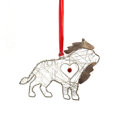Wrapped Wire Lion Ornament