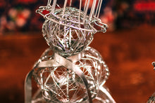 Silver Wrapped Wire Snowman - 2 Sizes