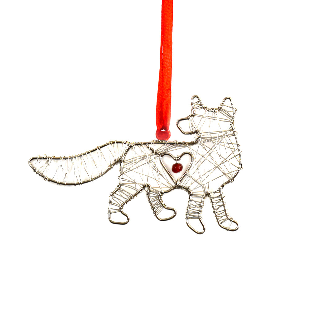 NEW! Wrapped Wire Fox Ornament