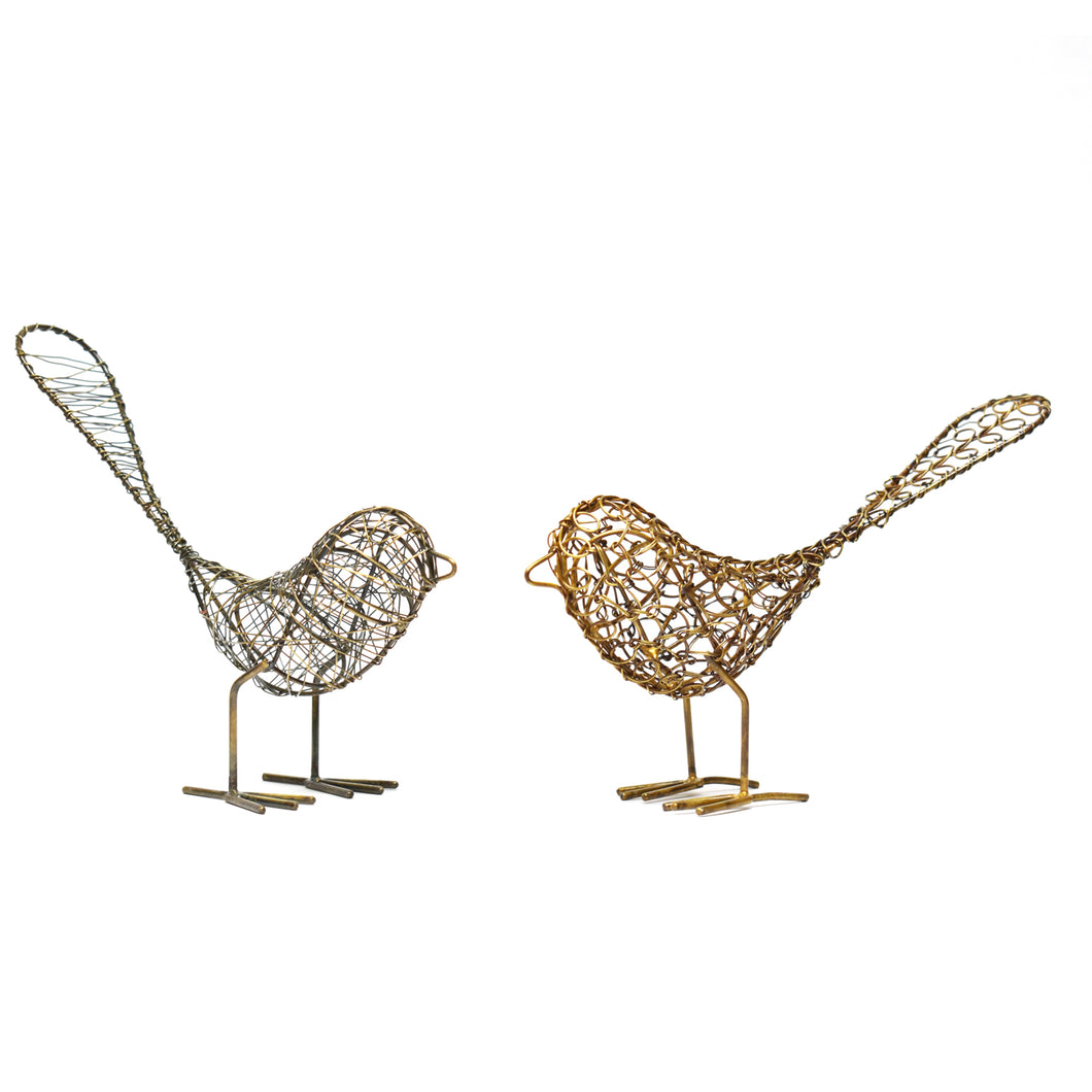 Antique Wire Birds - Set of 2