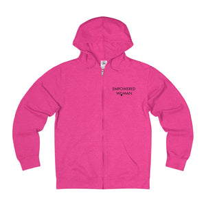 Empowered Woman Adult Unisex French Terry Zip Hoodie (8 colors)