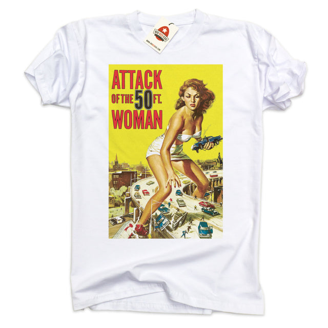 Attack of the 50 Foot Woman Vintage Movie Poster T-Shirt
