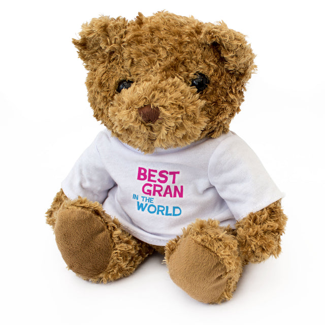 Best Gran In The World Teddy Bear, Gift for Grandmothers