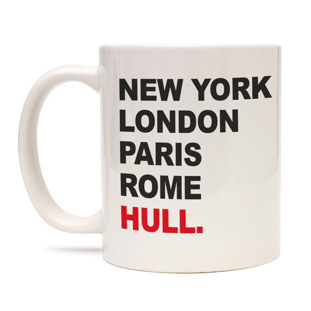 New York, London, Paris, Rome, Hull Mug