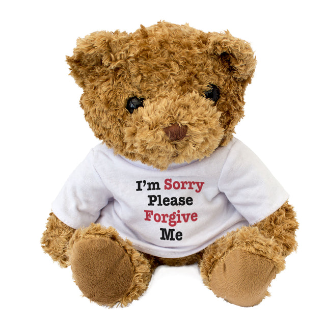 I'm Sorry Please Forgive Me Teddy Bear
