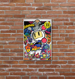 Placa decorativa Super Bomberman - 19x29
