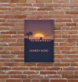 Placa decorativa Donkey Kong - 19x29