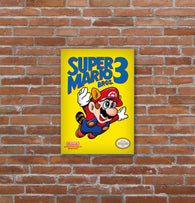 Placa decorativa Super Mario Bros 3 - 19x29