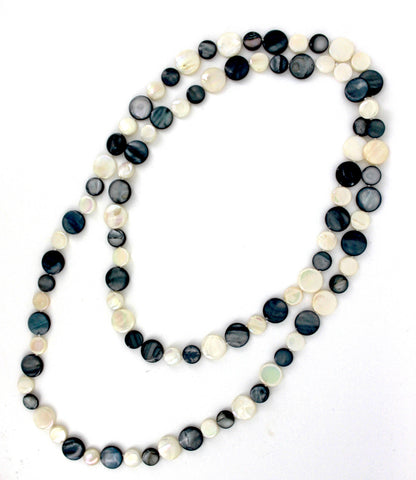 Black/White Single Strand Mother of Pearl