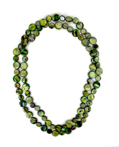 Moss Single Strand Mother of Pearl Necklace