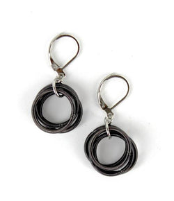 Slate Piano Wire Loop Earring