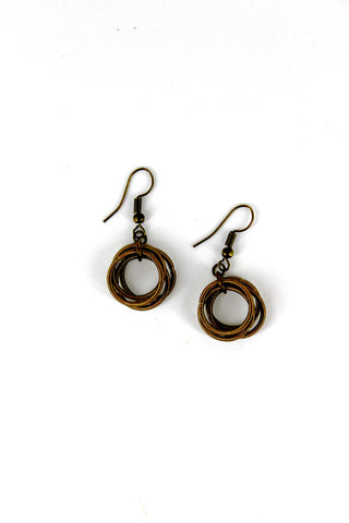 Bronze Loop Piano Wire Earring