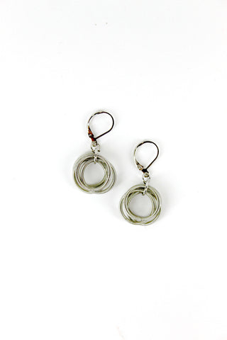 Silver Loop Piano Wire Earrings