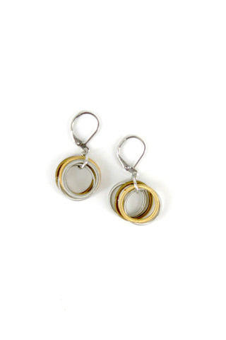Silver/Gold/Bronze Loop Piano Wire Earrings