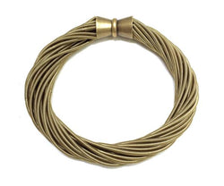 Bronze Twist Bracelet with Magnetic Clasp