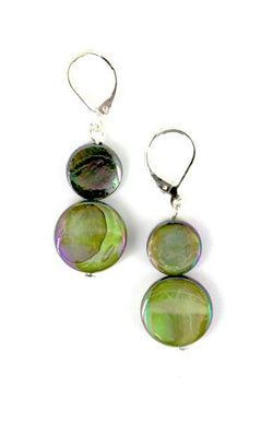 Moss Mother of Pearl Earring
