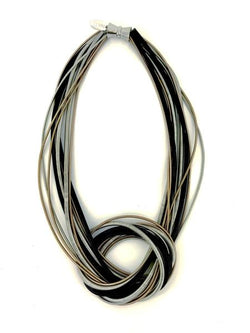 Rose/Black/Silver Knot Wire N