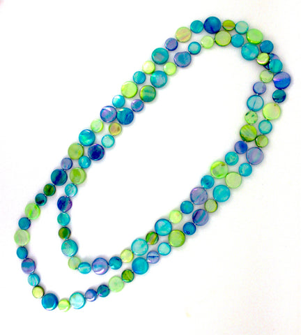 Blue/Green Single Strand Mother of Pearl
