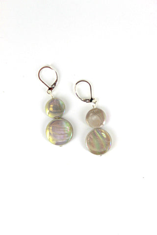 Taupe Mother of Pearl Earring