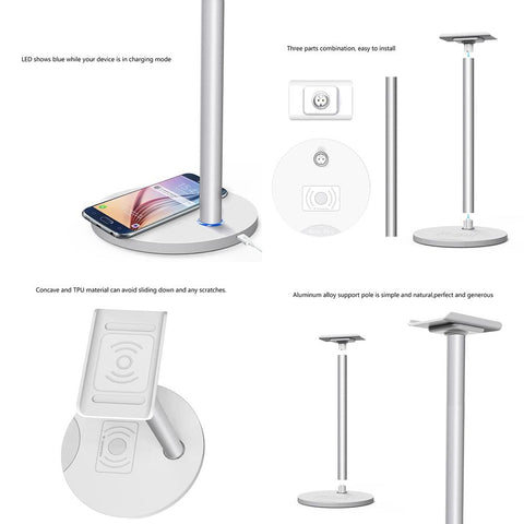 Image of Wireless Charging Aluminum Headset holder