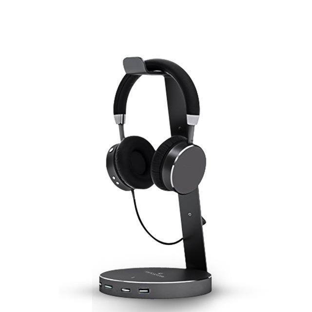 4 Port USB Headset Stand