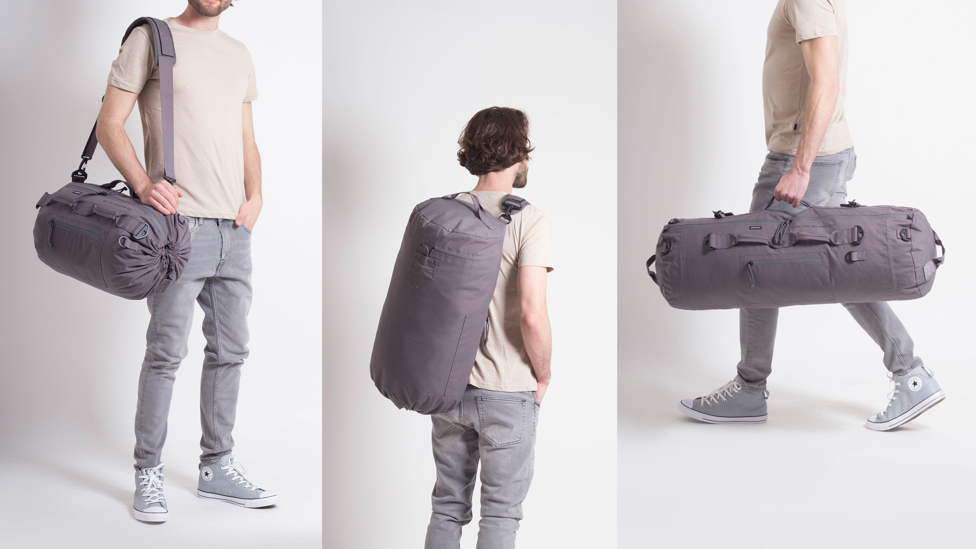 The Adjustable Bag Grey