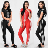 Women Fitness Yoga Set Gym Sports Running Hooded Tracksuit Jogging Dance Sport Suit Workout Clothing T-Shirts Pants Set