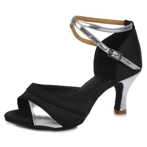 New Brand Satin/PU Girls Ladies Women's Tango Salsa Dance Ballroom Latin Dance Shoes 7cm Heels more Colors Wholesale and Retail