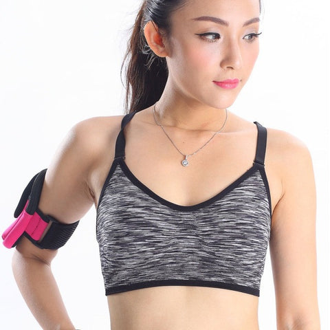 Women Fitness Yoga Sports Bra For Running Gym Padded Wire free Shake proof Underwear Push Up Seamless Fitness Top Bras