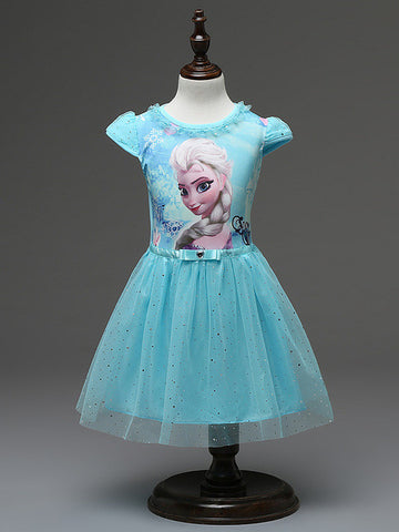 New High Quality Elsa Anna Dress Girls Dress Cosplay Party Dresses Princess tutu