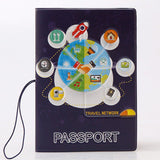 New boys like cool cartoon passport holders, men travel passport cover, pvc leather 3D Design