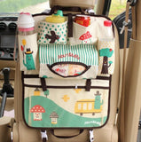 Cute Cartoon Car Back Seat Organizer Multi Pocket Storage Box Bag Hanging Insulation Holder Mummy Bags for Kids Children