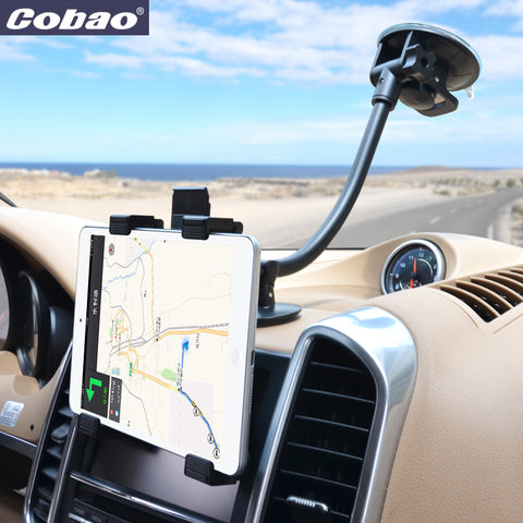Cobao universal mobile phone holder stand flexible accessories car mount holder for 7 8 inch tablet PC Ipad mini Iphone 6 7 plus