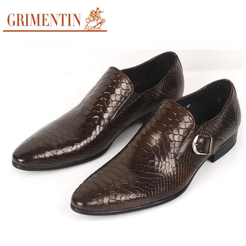 fashion mens dress shoes genuine leather black brown wedding male shoes