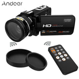 Andoer HDV-Z20 Portable Video Camera 1080P Digital Camcorders Full HD Touch Scr