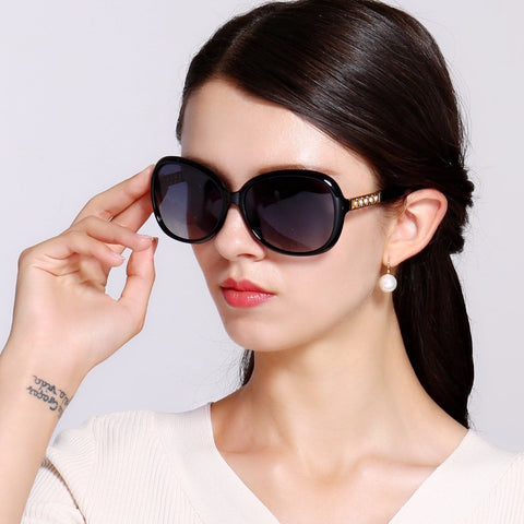 wholesale price sunglasses women oversize vintage diamonds women fashion sun glasses  new brand polarized female eyewear