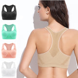[5Colour/3size] Professional Absorb Sweat Top Athletic Running Sports Bra , Gym Fitness Women Seamless Padded Vest Tanks  M L XL