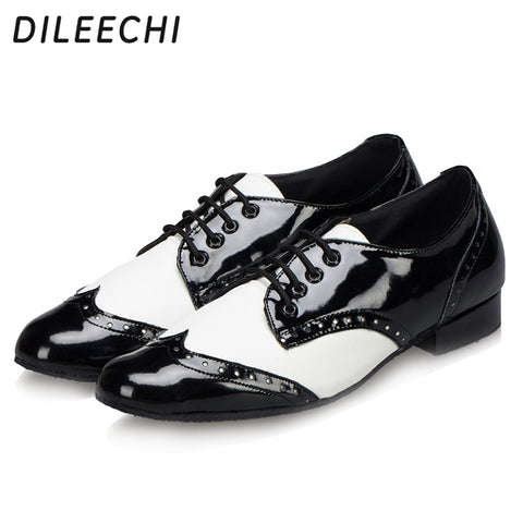 DILEECHI brand Men's shoes ballroom dancing shoes adult Latin dance shoes soft outsole square dance shoes