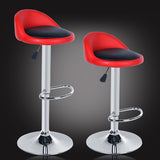 2PCS/lot Chair Bar Rotating Height Adjustable Bar Stool Chair Stainless Steel Stent 4 Colors
