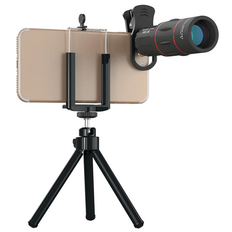 Universal 18x25 Monocular Zoom HD Optical Cell Phone Lens Observing Survey 18X telephoto lens with tripod for Smartphone